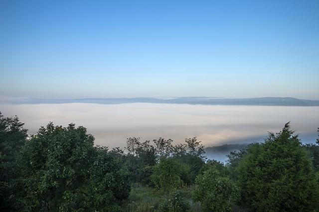 Inversion, Sequatchie Valley, Henson Gap overlook, Sequatchie County, Tennessee