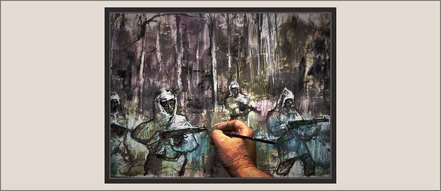 SEGUNDA GUERRA MUNDIAL-WW2-SECOND WORLD WAR-ART-ARTE-PINTURA-PAINTINGS-HISTORIA-HISTORY-RUSIA-RUSSIA-NIEVE-SNOW-SOLDIERS-SOLDADOS-RUSOS-PLASTICA-ARTISTA-PINTOR-ERNEST DESCALS