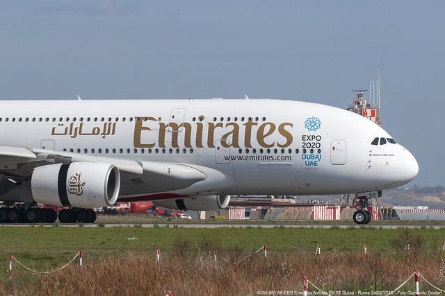 A6-EES A380-861 EK 97 DXB-FCO