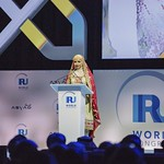 Hiyam Al Jabri during Plenary session 1 at IRU World Congress