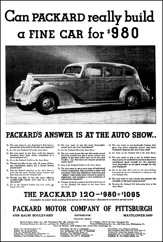 Vintage Advertising For The 1935 Packard Automobile In The