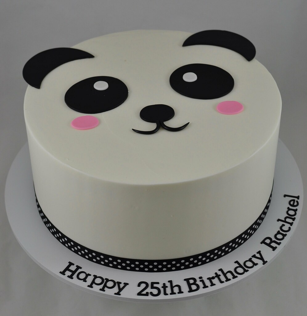 Incredible Panda Birthday Cake Jenny Wenny Flickr Funny Birthday Cards Online Alyptdamsfinfo