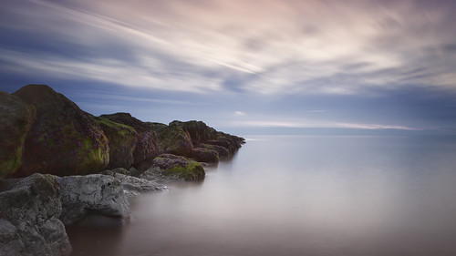 rocks longexposure long exposure clouds water smooth beach seafront seascape seashore sea seaweed blue canon6d canon canonphotography