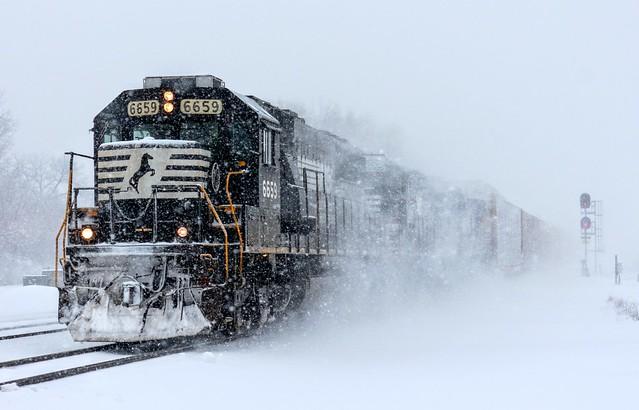 Snow Blasting At Pine Junction