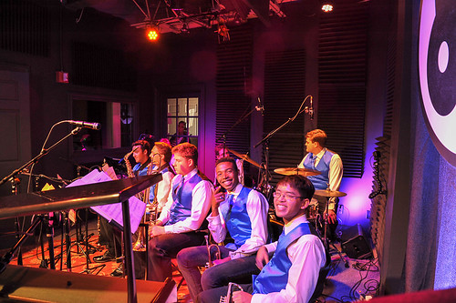 Jesuit High School Jazz Band on School Groove - Sep. 24, 2018. Photo by Michael E. McAndrew.