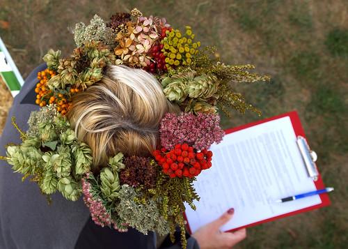 polska poland polen polonia gambezia pentax k30 drawieński park narodowy dpn święto jabłka drawnik garden ogród głowa head woman blonde