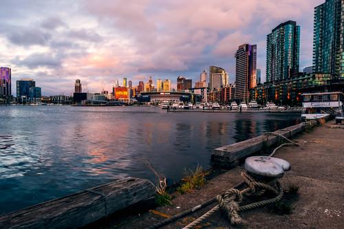 docklands melbourne water docks city boats buildings stadium marvel