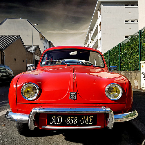 Renault Dauphine - Angers, France   by pom'.