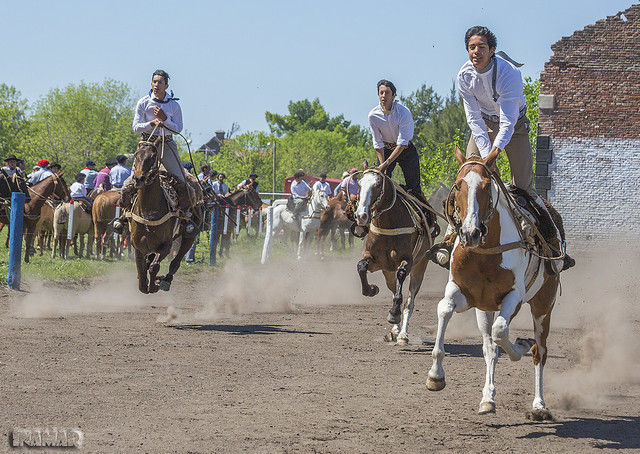 Carrera de sortijas a caballo