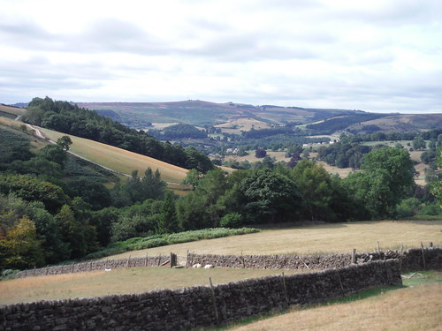 Backview to Eyam Moor from near North Lees Hall SWC Walk 319 - Hathersage Circular (via Stanage Edge, Higger Tor & Padley Gorge)