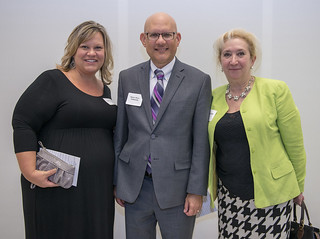 Thu, 10/18/2018 - 16:34 - A photograph of Amy Slusser with GCC's Math, Science and Career Education team members Dr. Rafael Alicea-Maldonado and Lina LaMattina