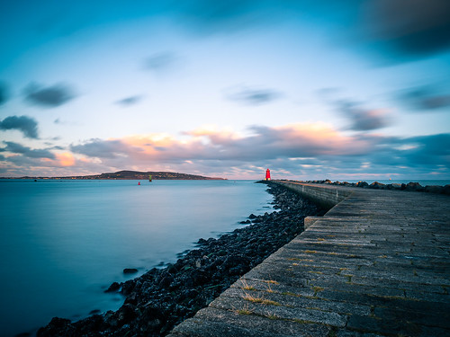 photo lighthouse howth landscape sunset ireland nature city outdoor clouds longexposure travel photography dublin sky seascape poolbeg europe geotagged sea garristown ie onsale