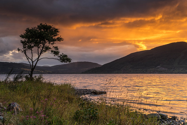 A Great Glen Sunset ..