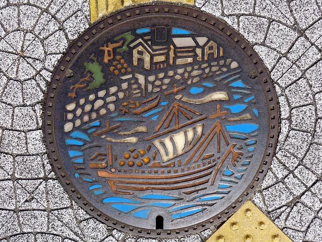 Imari Saga, manhole cover (佐賀県伊万里市のマンホール)