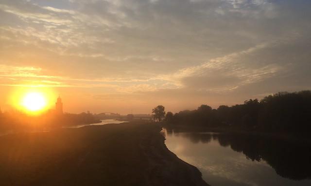 Deventer sunrise in early october morning (Netherlands 2018)