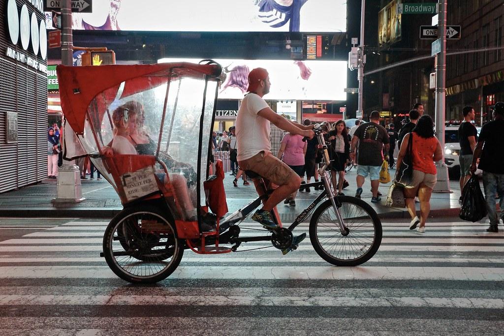 74c2952b064 Broadway Pedicab.   Times Square, NYC.   Livia Lopez   Flickr