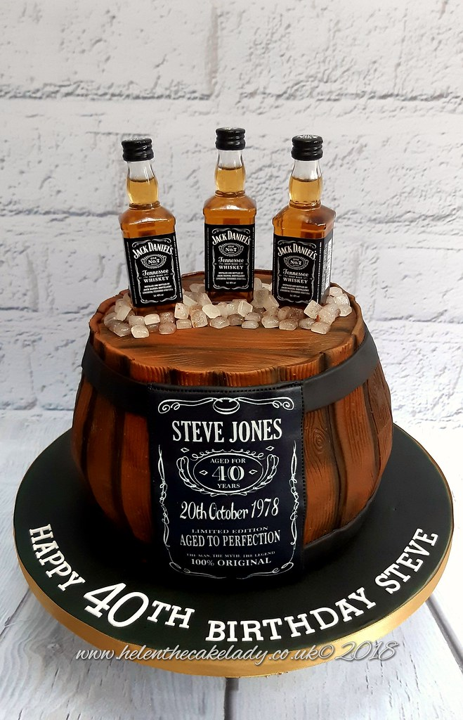 Remarkable Jack Daniels Barrel Birthday Cake Helen Flickr Funny Birthday Cards Online Alyptdamsfinfo