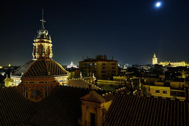 Nightfall over Seville