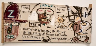 Hollywood Africans in Front of the Chinese Theater with Footprints of Movie Stars, 1983, Jean-Michel Basquiat
