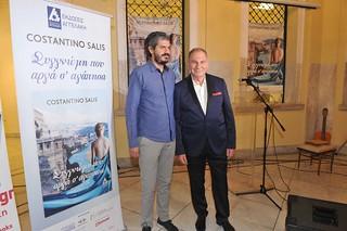 14.Ο Κωνσταντίνος Αγγελάκης, εκδότης του βιβλίου με τον Costantino Salis   by costantino.salis