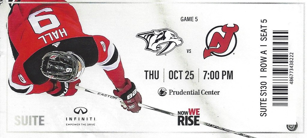 hot sale online 076e0 846c9 October 25, 2018, New Jersey Devils vs Nashville Predators ...