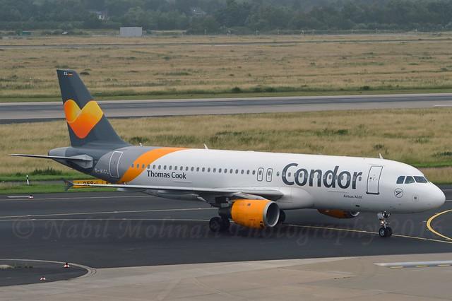 Condor D-AICL Airbus A320-212 cn/1437 lsd C-GCKU Air Transat 06 Mar 2018 @ EDDL / DUS 27-06-2016