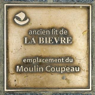 Ancien lit de la Bievre - Emplacement du Moulin Coupeau - 28 rue Geoffrey St Hilaire, Paris 5th arr