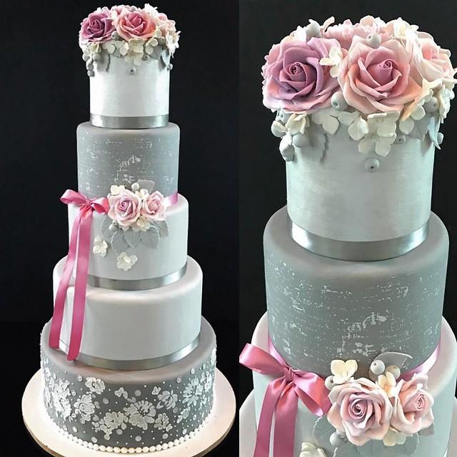 Grey Shades Wedding Cake