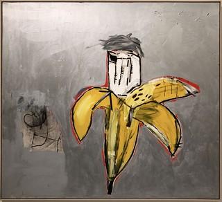 Brown Spots (Portrait of Andy Warhol as a Banana), 1984, Jean-Michel Basquiat