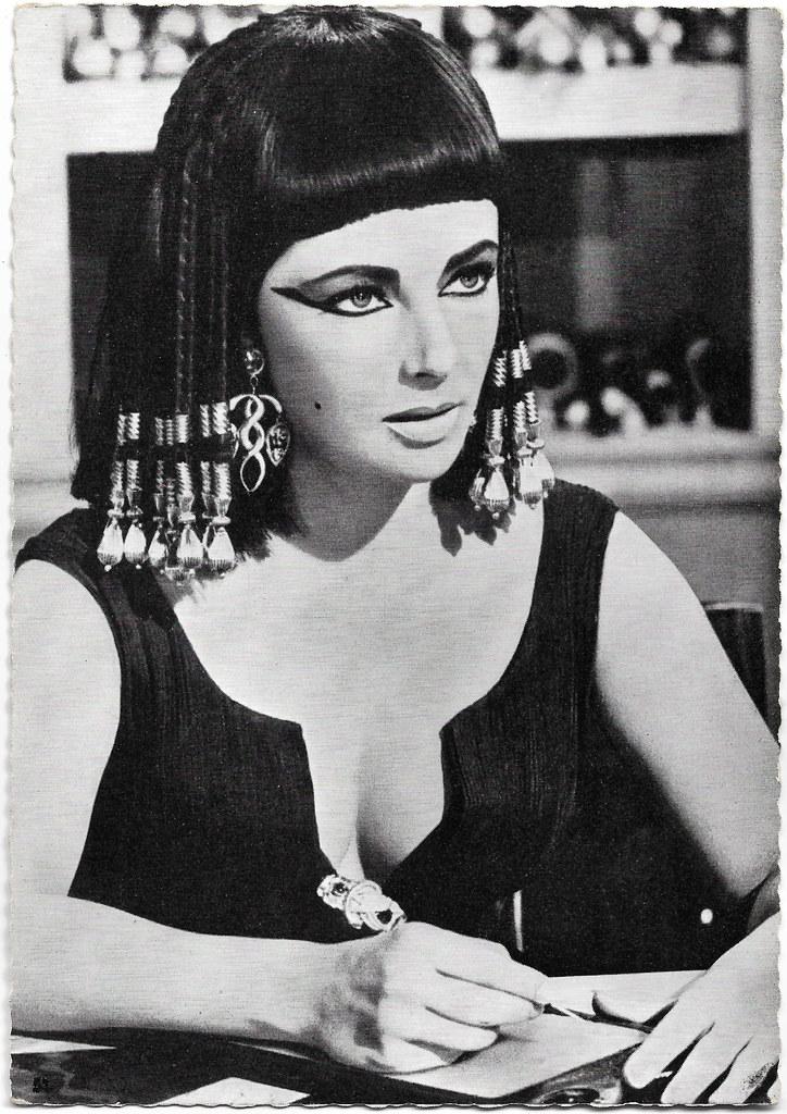 Elizabeth Taylor In Cleopatra 1963 German Postcard By Fi Flickr