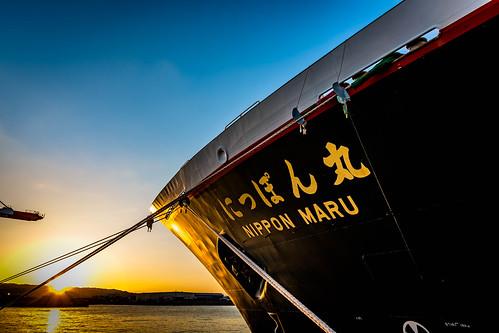 nipponmaru ship cruise sunset sea port imabari ehime shikoku japan sky nikon d7200 sigma 1770mm 1770
