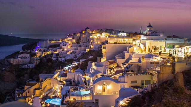 Santorini nightfall
