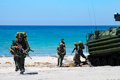 U.S. and Philippine Marines conduct an amphibious landing at Naval Station Leovigildo Gantioqui, Oct. 6. (U.S. Marine Corps/Lance Cpl. Christine Phelps)
