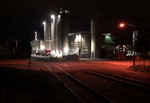 night usa washington kent railroad spur industry triking