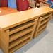 Oak large tall sideboard pull out drawers E225