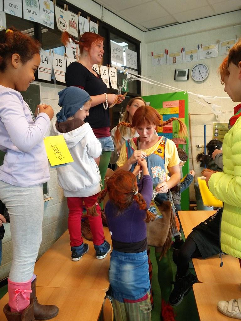 Pippi Langkous Op Het Trappenhuis Freinetschool Het