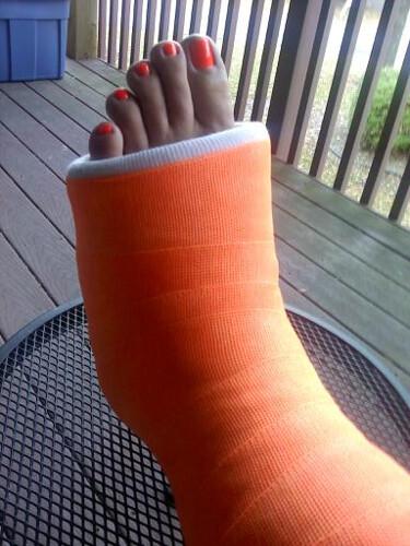 Bright open toe footwear