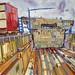 Dry-dock, Gouache on paper, 68x51cm