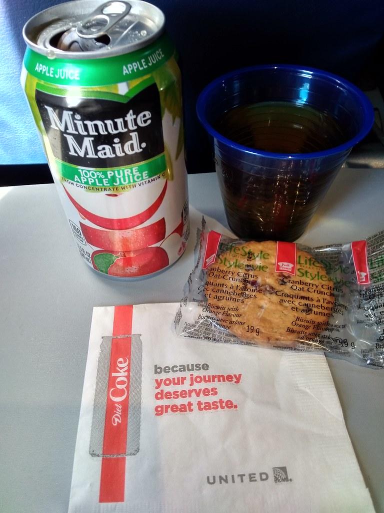 美联航免费飞机餐