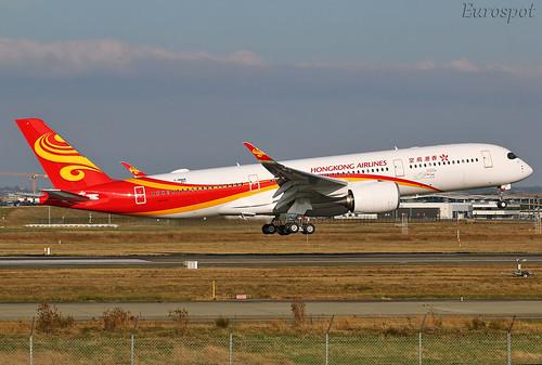 F-WWAW Airbus A350 Hong Kong Airlines | by @Eurospot