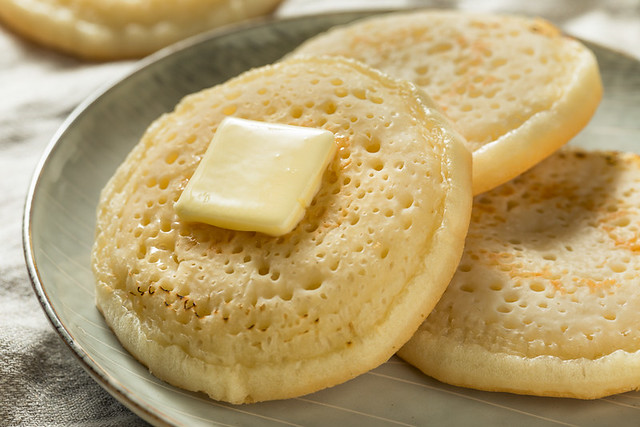 Homemade Grilled British Crumpets