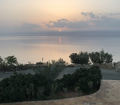 The Sunset in the Promised Land, the Dead Sea Marriott Resort & Spa, Jordan.