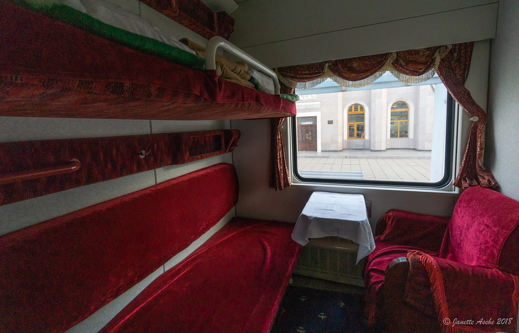 Trans Mongolian train - our compartment