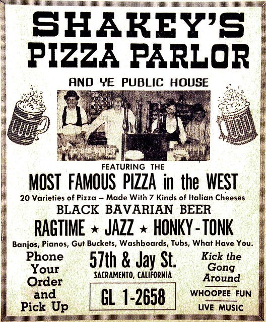 1961 Vintage Shakey's Pizza Ad