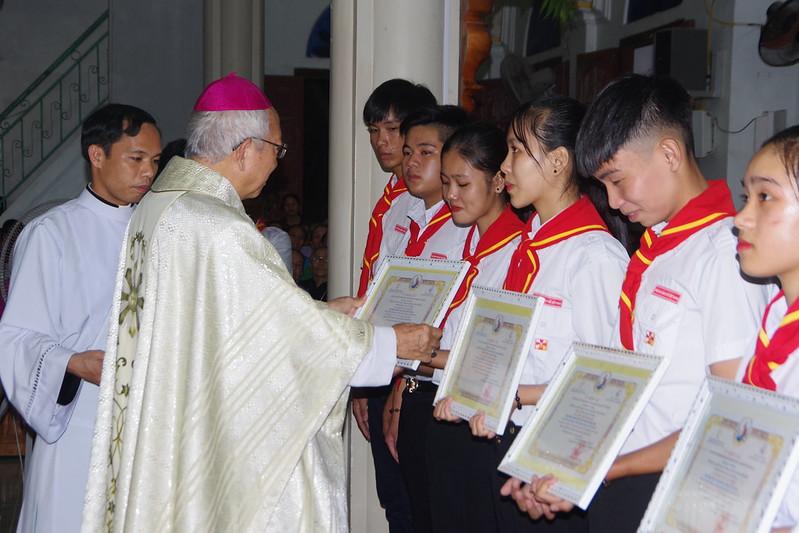Lễ ra mắt TNTT xứ  đoàn Đa Minh Tân Phong, QB (5)