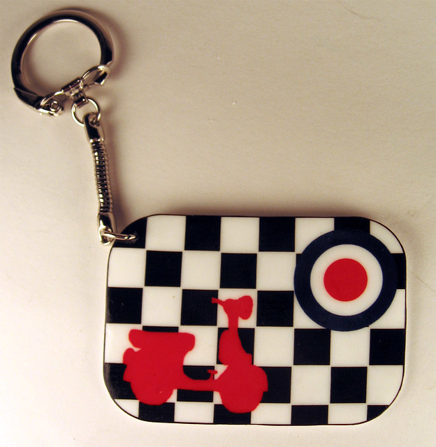 Scooter Key Chain (Mod target and checkerboard) | Help those