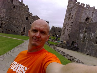 Self photo of tourist at Caernarfon Castle | by Hubbers