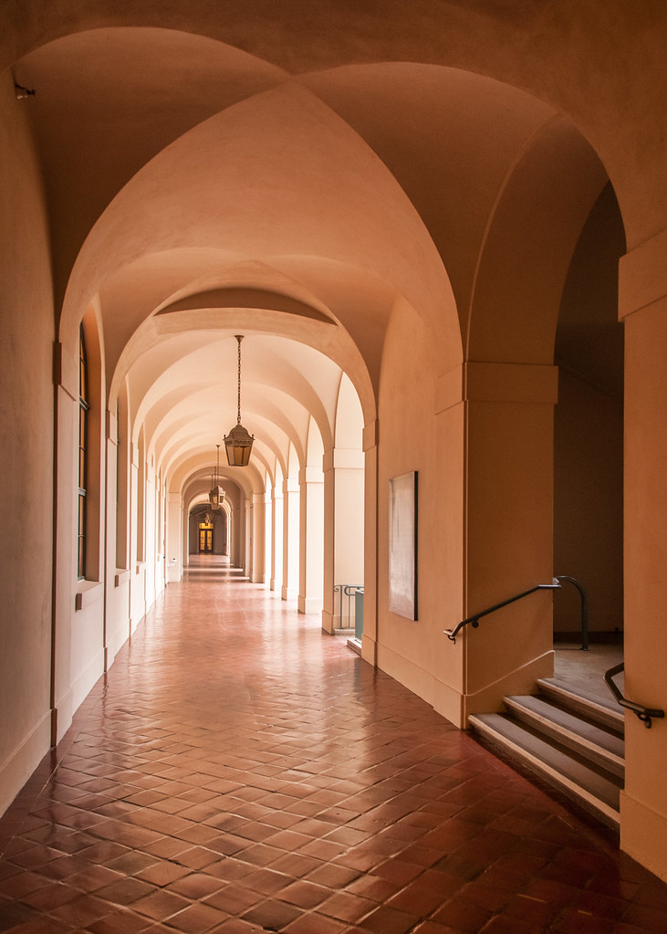 City Hall Passageway - HDR | Photographed in Pasadena Califo