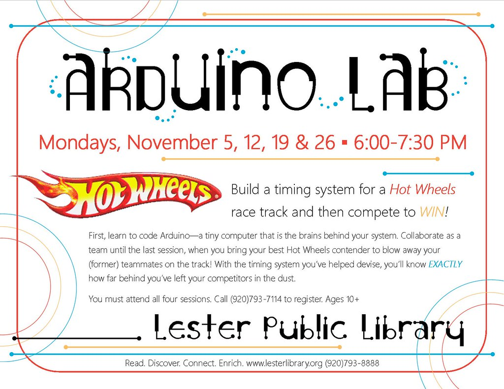 Arduino Lab   Lester Public Library, Two Rivers, Wisconsin   Lester