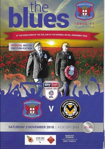 Carlisle United V Newport 3-11-18   by cumbriangroundhopper
